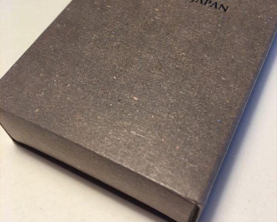 「エゾマツクラフト紙」を使った時計ベルト用スリーブ箱